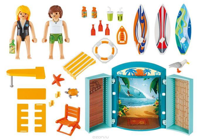 Playmobil Игровой набор Игровой бокс Магазин для серфингистов