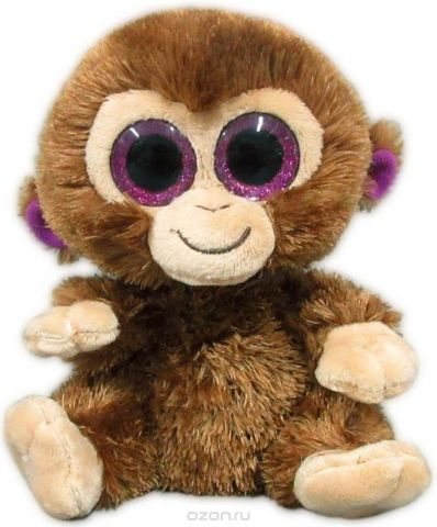 """Игрушка мягкая Teddy """"Обезьянка коричневая"""", 15 см"""