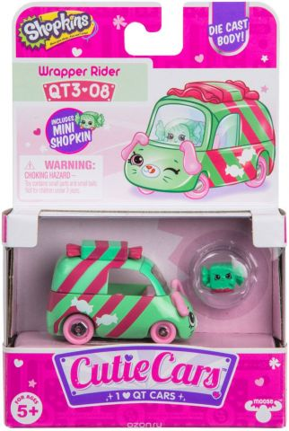 Машинка Cutie Cars Wrapper Rider с фигуркой Shopkins, 3 сезон