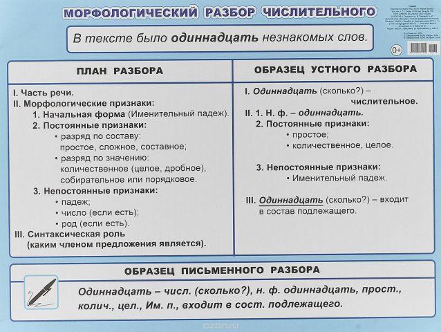 МР числительного 5-6 класс