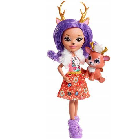 Mattel Enchantimals FNH23 Кукла Данесса Оления, 15 см