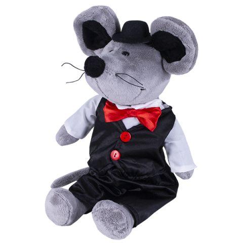 SOFTOY S890/15 Мягкая игрушка Мышь в костюме, 26см