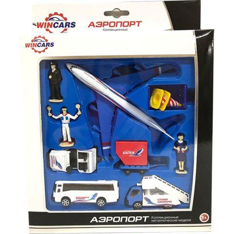 Wincars 86048-PT2028SN Набор металлических машин и аксессуаров - аэропорт