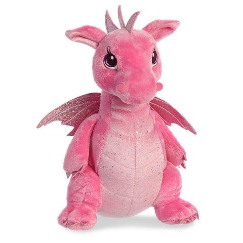 Aurora 170415A Дракон розовый, 30 см