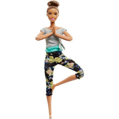 Mattel Barbie FTG82 Барби Безграничные движения Шатенка с пучком